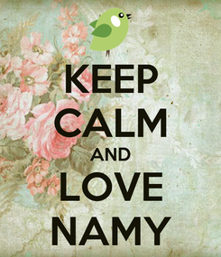 Poster: KEEP CALM AND LOVE NAMY