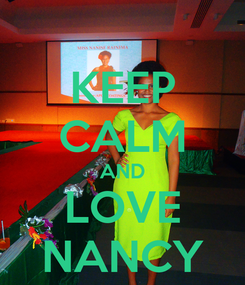 Poster: KEEP CALM AND LOVE NANCY