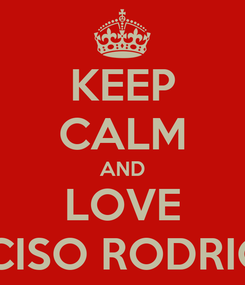 Poster: KEEP CALM AND LOVE NARCISO RODRIGUEZ