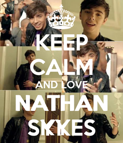 Poster: KEEP CALM AND LOVE NATHAN SKYES