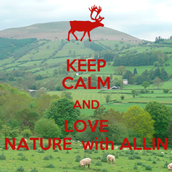 Poster: KEEP CALM AND LOVE NATURE  with ALLIN