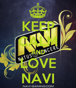 Poster: KEEP CALM AND LOVE NAVI