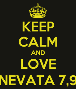Poster: KEEP CALM AND LOVE NEVATA 7,9
