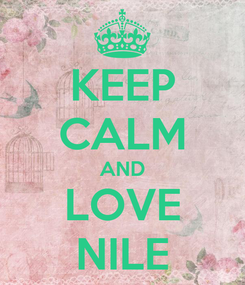 Poster: KEEP CALM AND LOVE NILE