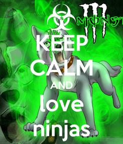 Poster: KEEP CALM AND love ninjas