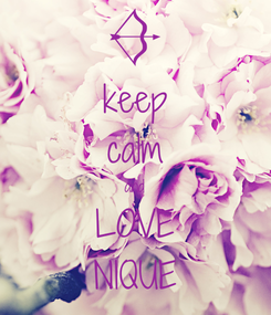 Poster: keep calm and LOVE NIQUE
