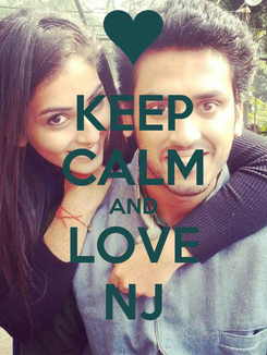 Poster: KEEP CALM AND LOVE NJ
