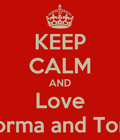 Poster: KEEP CALM AND Love Norma and Tom