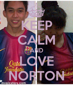Poster: KEEP CALM AND LOVE NORTON