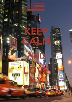 Poster: KEEP CALM AND LOVE NY