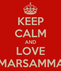 Poster: KEEP CALM AND LOVE OMARSAMMAN