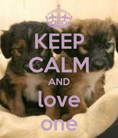 Poster: KEEP CALM AND love one