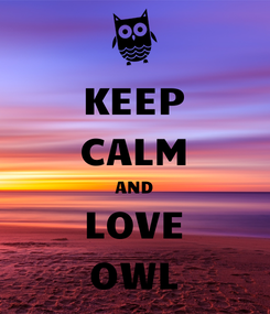 Poster: KEEP CALM AND LOVE OWL