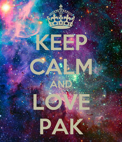 Poster: KEEP CALM AND LOVE PAK