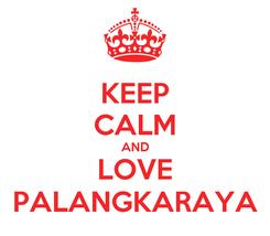 Poster: KEEP CALM AND LOVE PALANGKARAYA