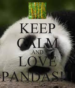 Poster: KEEP CALM AND LOVE PANDAS!!!
