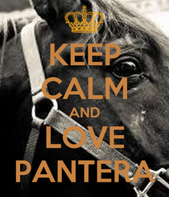 Poster: KEEP CALM AND LOVE PANTERA