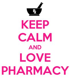 Poster: KEEP CALM AND LOVE PHARMACY
