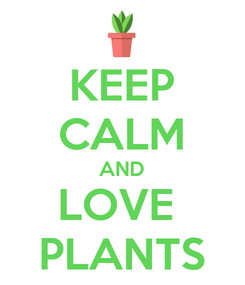 Poster: KEEP CALM AND LOVE  PLANTS
