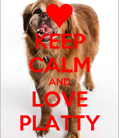 Poster: KEEP CALM AND LOVE PLATTY