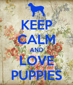 Poster: KEEP CALM AND LOVE PUPPIES