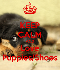 Poster: KEEP CALM AND Love Puppies/Shoes