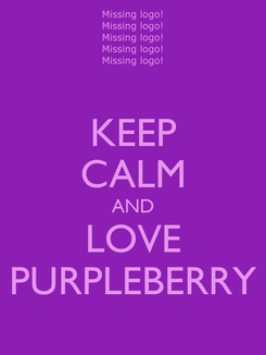Poster: KEEP CALM AND LOVE PURPLEBERRY