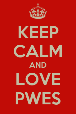 Poster: KEEP CALM AND LOVE PWES
