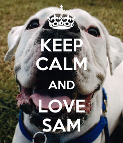 Poster: KEEP CALM AND LOVE SAM