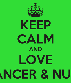 Poster: KEEP CALM AND LOVE SANCER & NUTS