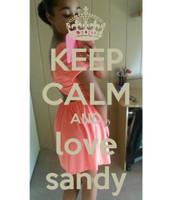 Poster: KEEP CALM AND love sandy
