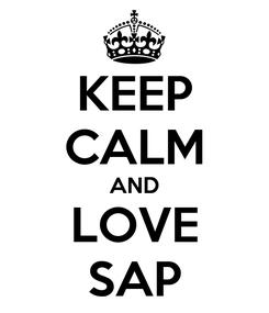 Poster: KEEP CALM AND LOVE SAP