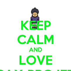 Poster: KEEP CALM AND LOVE SAX-PROJET