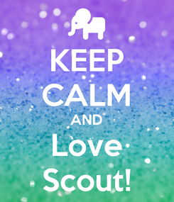 Poster: KEEP CALM AND Love Scout!