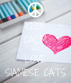 Poster: KEEP CALM AND LOVE SIAMESE CATS