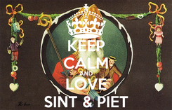 Poster: KEEP CALM AND LOVE SINT & PIET