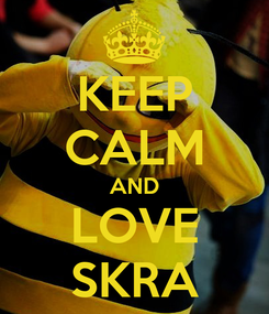 Poster: KEEP CALM AND LOVE SKRA