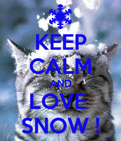 Poster: KEEP CALM AND LOVE  SNOW !