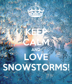 Poster: KEEP CALM AND LOVE SNOWSTORMS!
