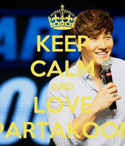 Poster: KEEP CALM AND LOVE SPARTAKOOKS