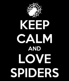 Poster: KEEP CALM AND LOVE SPIDERS