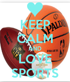 Poster: KEEP CALM AND LOVE SPORTS