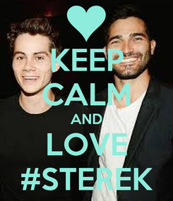 Poster: KEEP CALM AND LOVE #STEREK