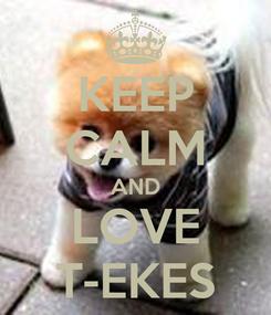 Poster: KEEP CALM AND LOVE T-EKES