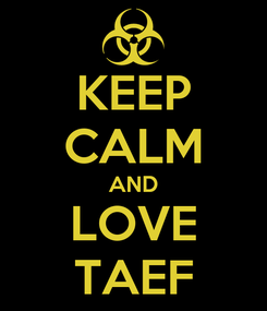 Poster: KEEP CALM AND LOVE TAEF