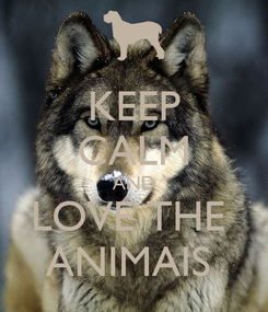 Poster: KEEP CALM AND LOVE THE  ANIMAIS