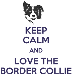 Poster: KEEP CALM AND LOVE THE BORDER COLLIE