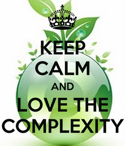 Poster: KEEP CALM AND LOVE THE COMPLEXITY