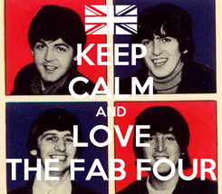 Poster: KEEP CALM AND LOVE THE FAB FOUR