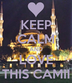 Poster: KEEP CALM AND LOVE THIS CAMII